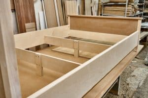 DIY wood bed with joists